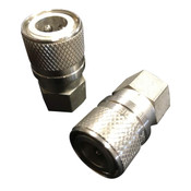 CON-222 High Pressure Stainless Steel Full Flow Quick Connect Coupler