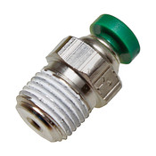 "Elbow 1/8"" tube x 1/8"" Male Pipe Thread Pushlock tube fitting"