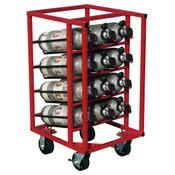 Vertical SCBA Rolling Storage Cart