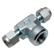 "1/4"" Compression Tee 6000PSI Female"